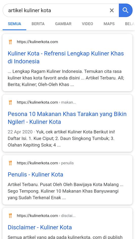 website sebelum google amp