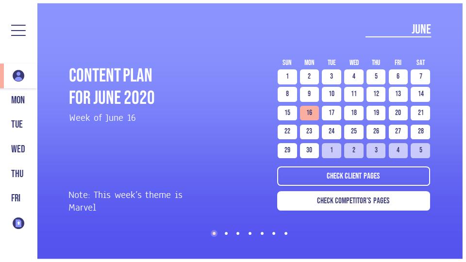 content calendar week june