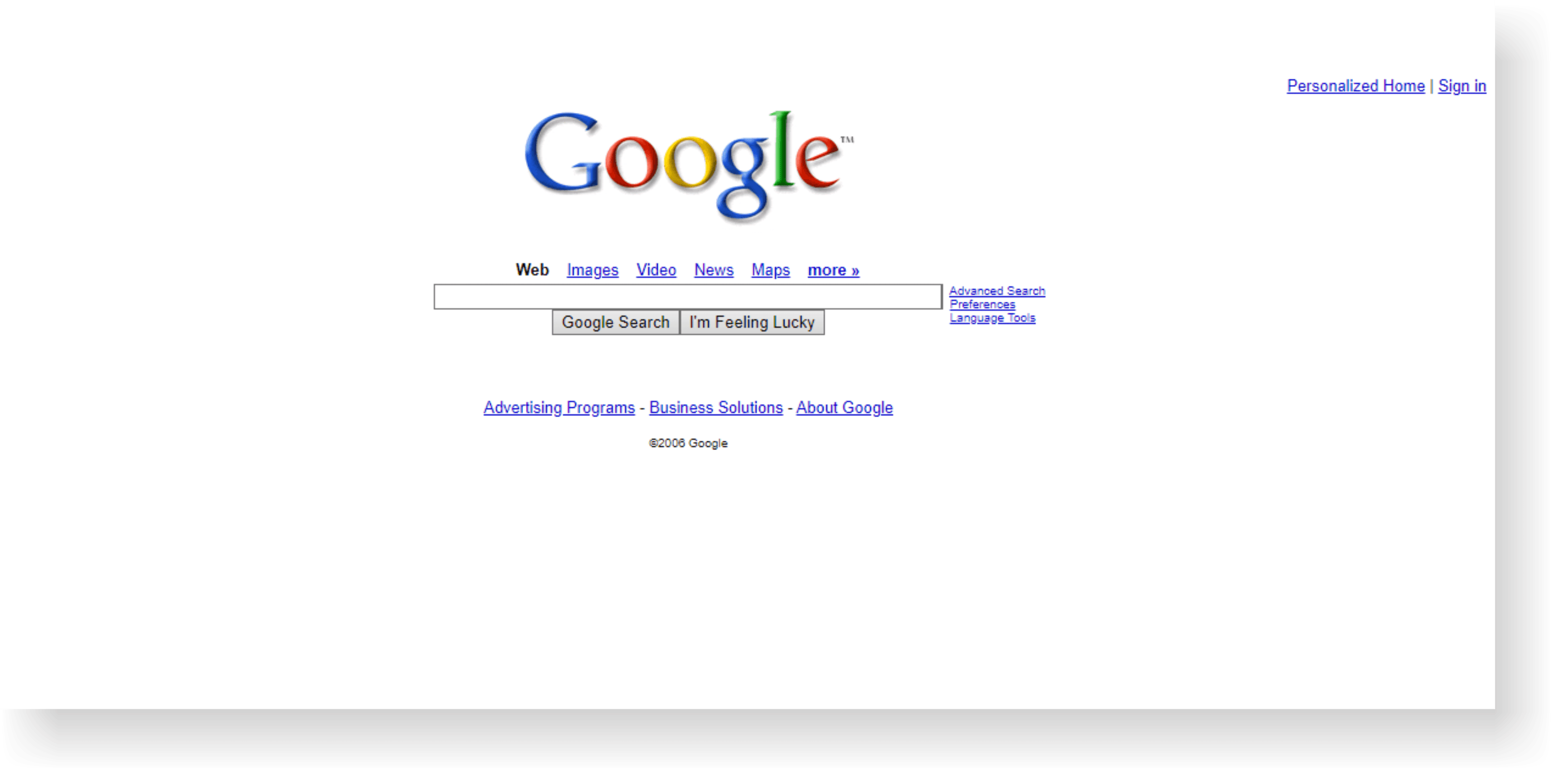 google site history on internet archive 2006