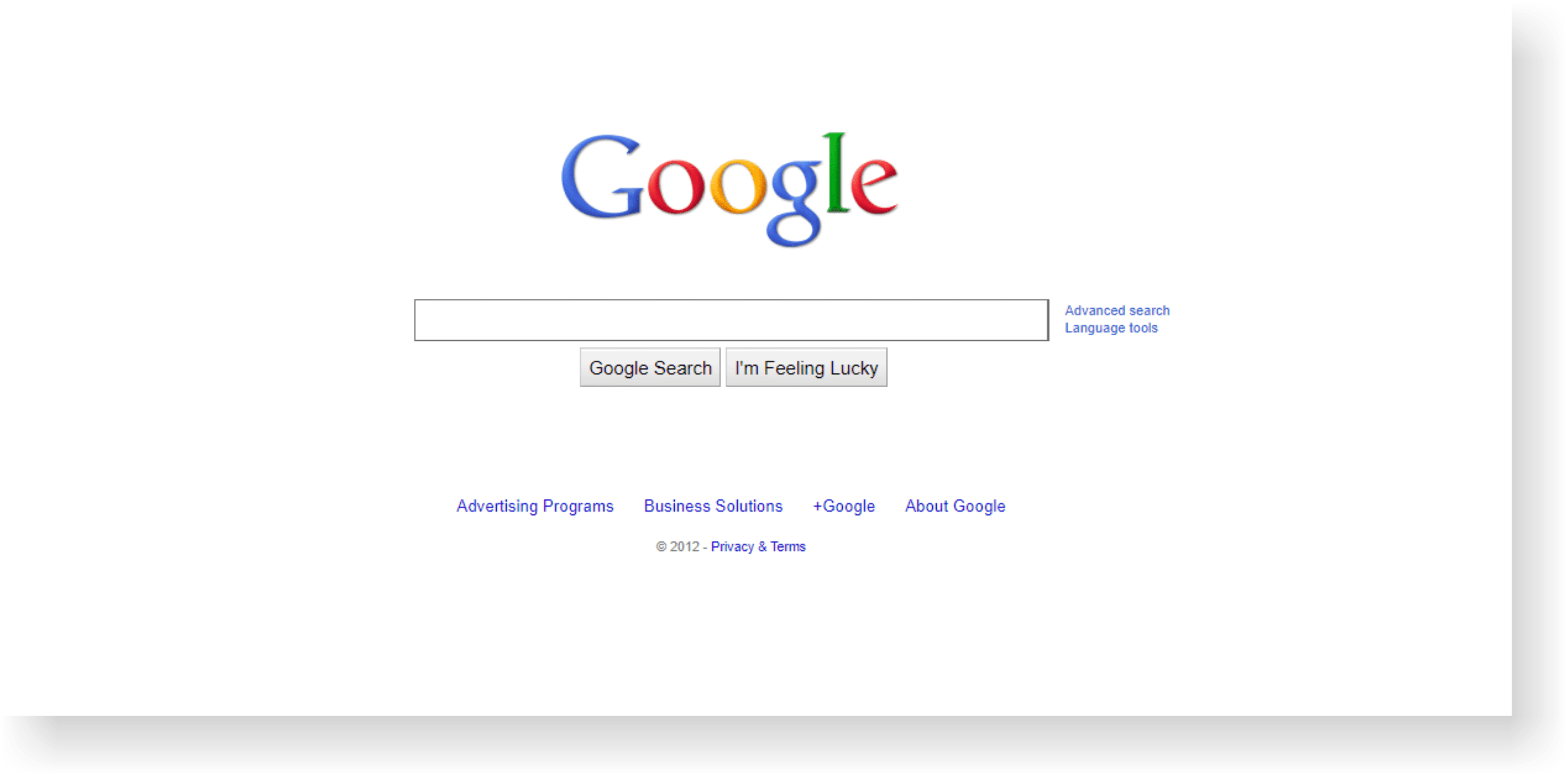 google site history from internet archive on 2012