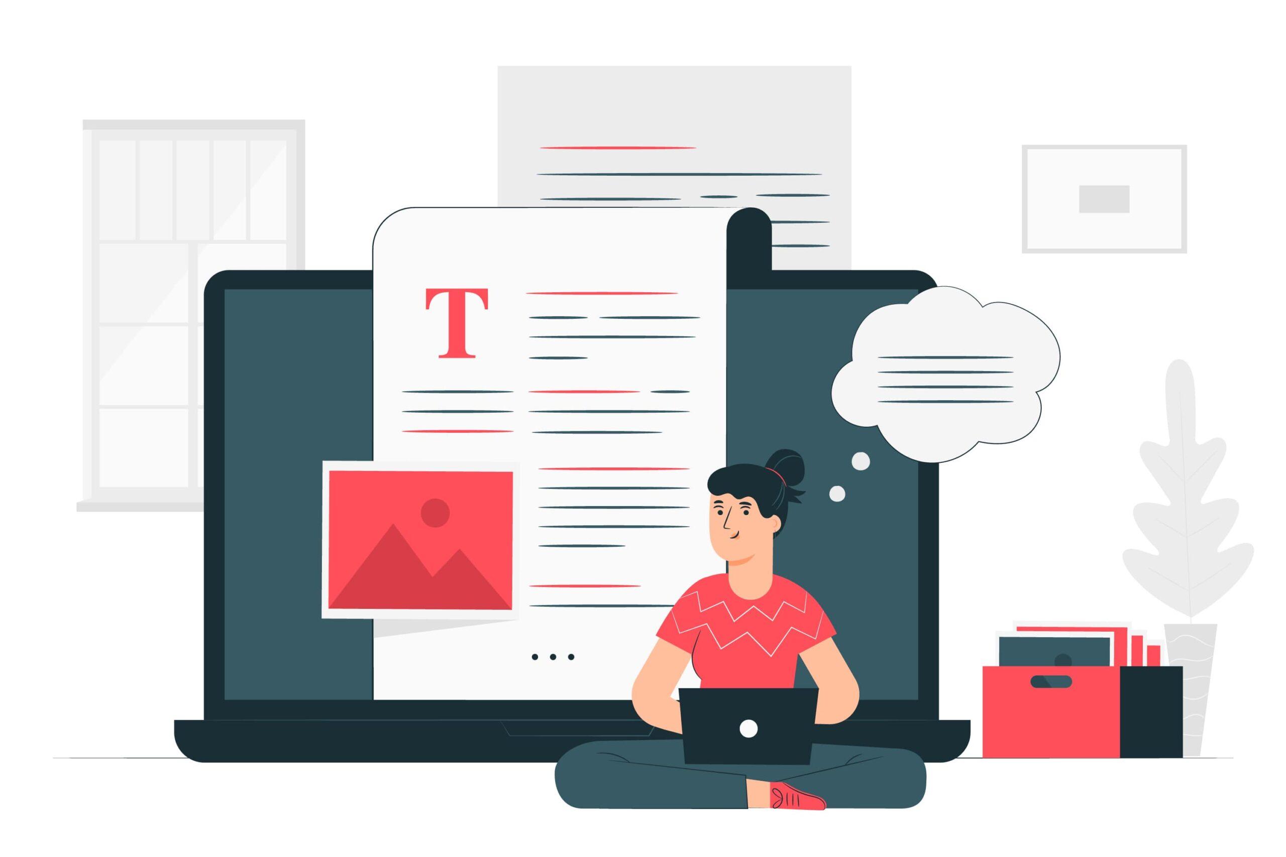 blogging tips vector visual