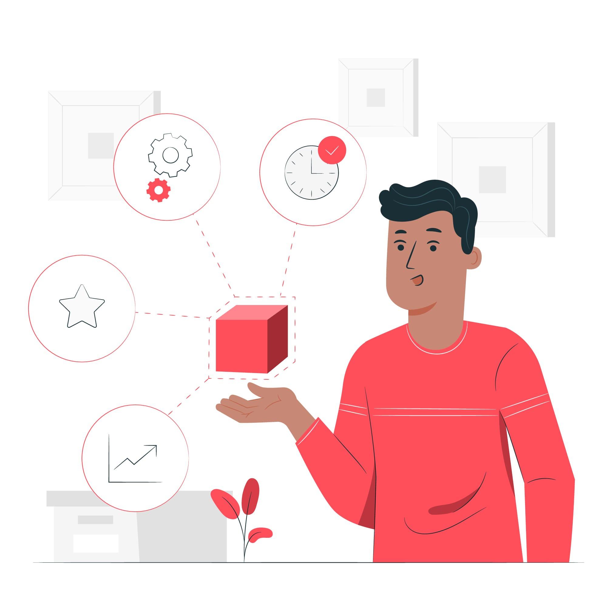 product description vector illustration