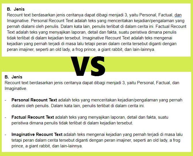 format penulisan contoh kualitas artikel