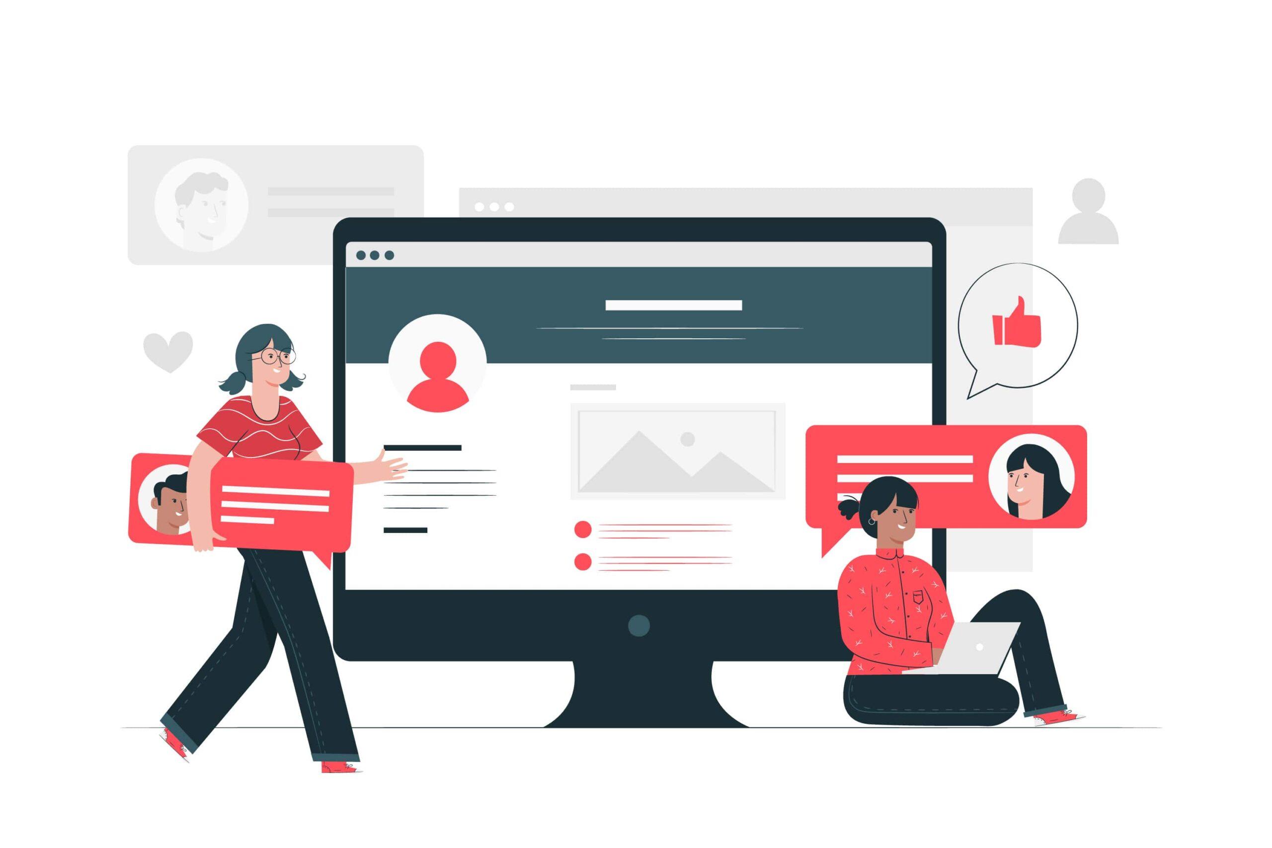 blogging tips vector visual illustration
