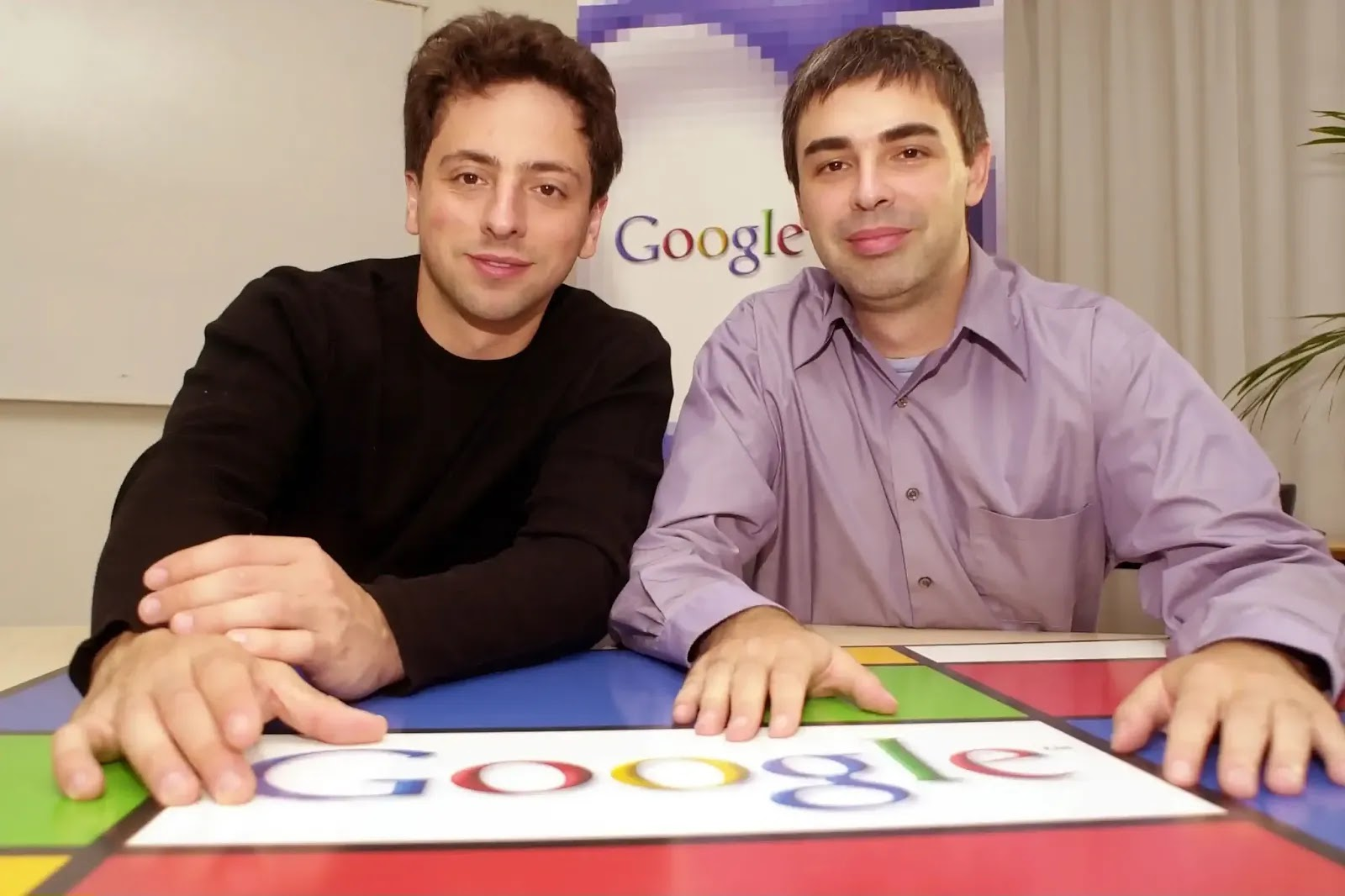 google founder Larry Page and Sergey Brin