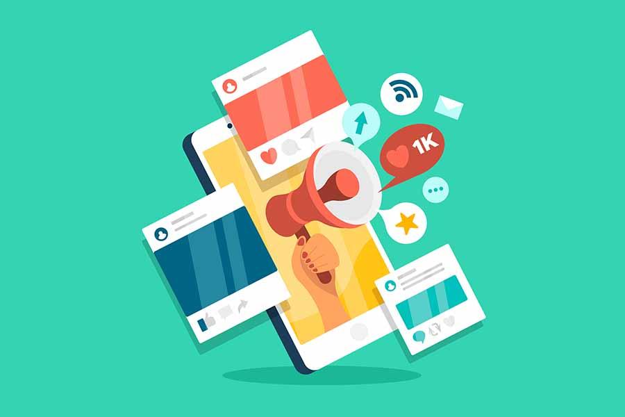 share sosial media